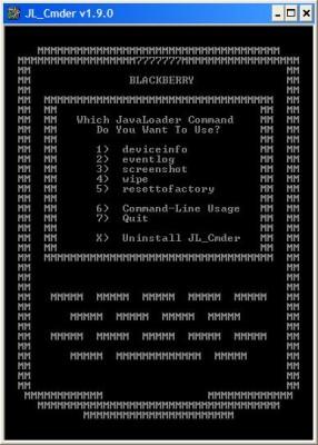 JL_Cmder_tool for Blackberry