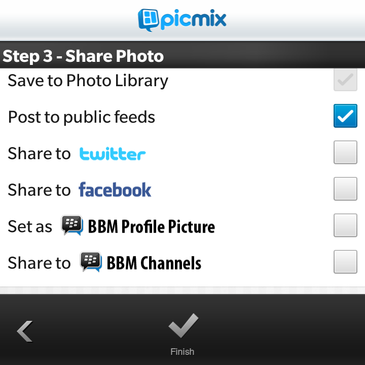 How To Use PicMix For Blackberry 10