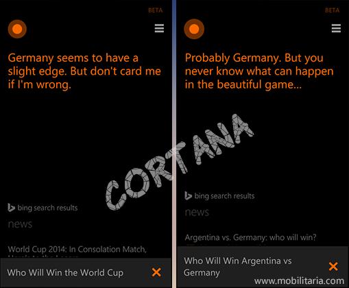 cortana predicts world cup final