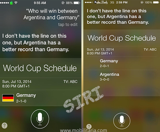 siri predicts world cup final