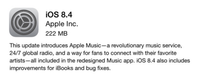 iOS 8.4 features