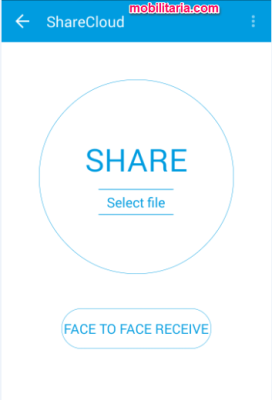 sharecloud face to face receive