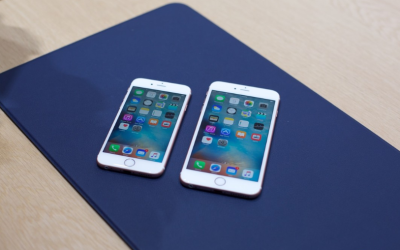 front view of iPhone 6s and iPhone 6s plus