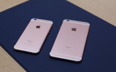 back view of iPhone 6s and iPhone 6s plus