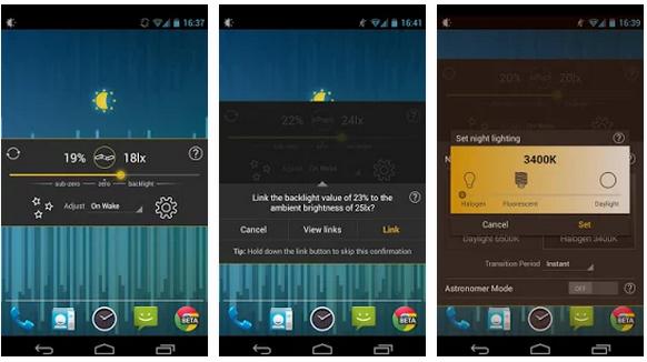 Ambient Light Sensor lux auto brightness app