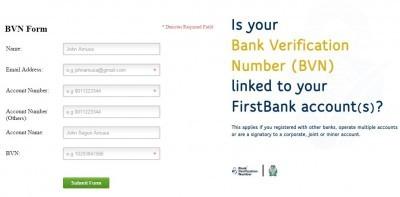 first bank bvn form