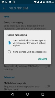 group text messaging on infinix hot 2