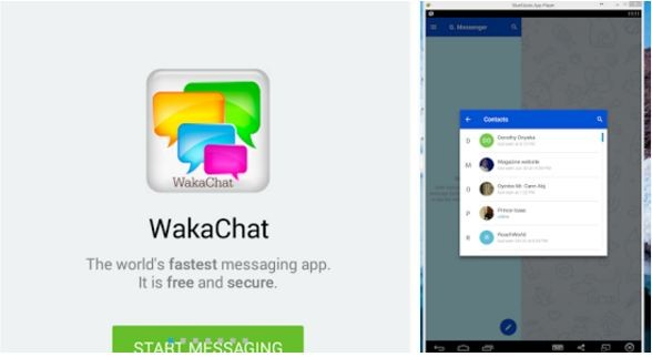 wakachat messaging app