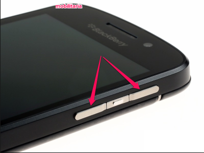 side buttons on blackberry q10