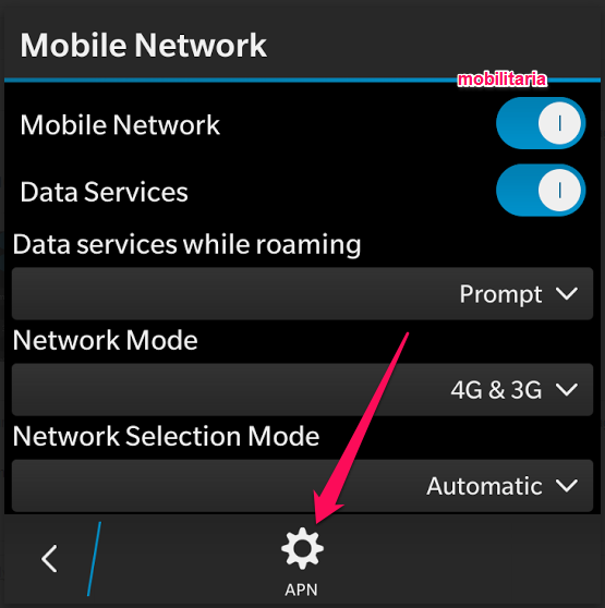 set apn settings for glo on bb 10