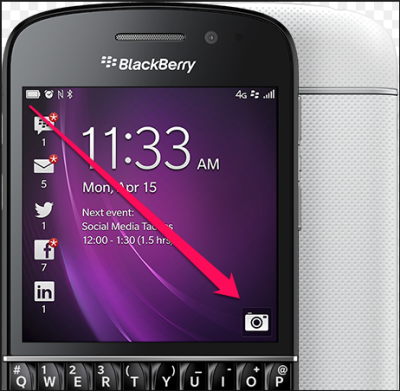 blackberry 10 swipe
