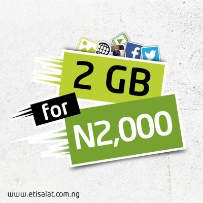 etisalat Nigeria 2gb data plan