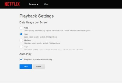netflix data usage settings