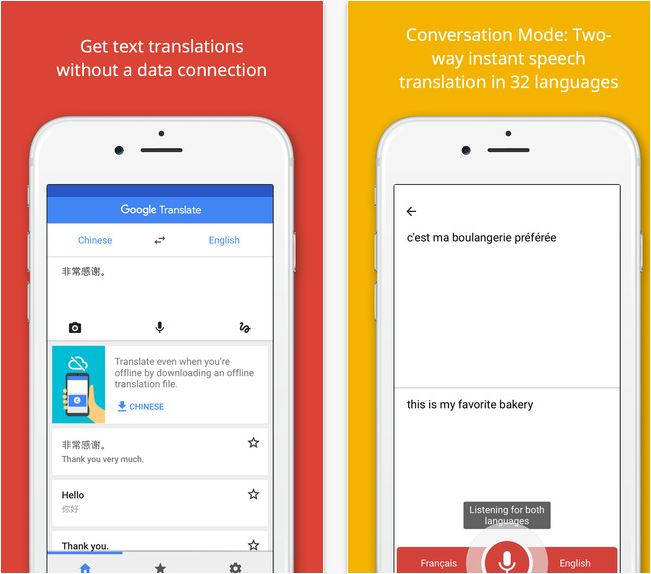 google translate app offline