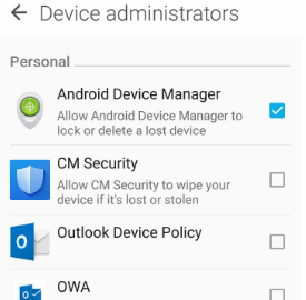 examples of android device administrators
