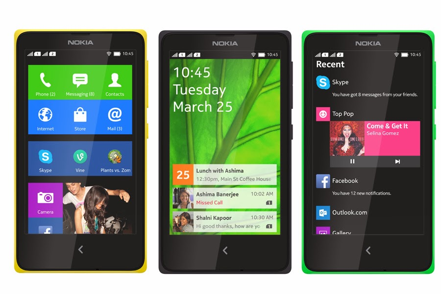 Nokia x android phones