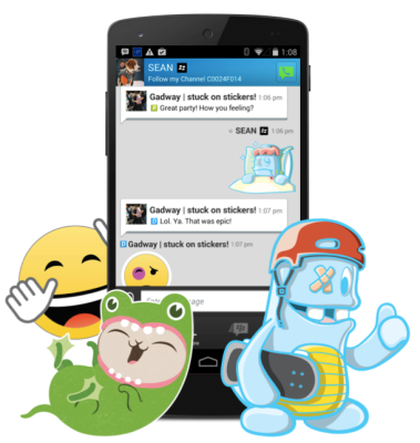 BBM chat With Sticker