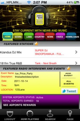 Jandus Radio Application