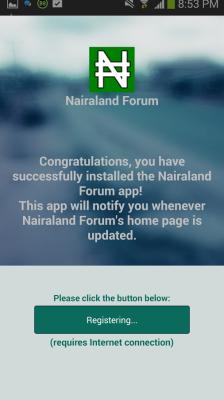 screenshot of Nairaland app