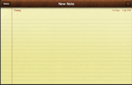 iPad Notes App