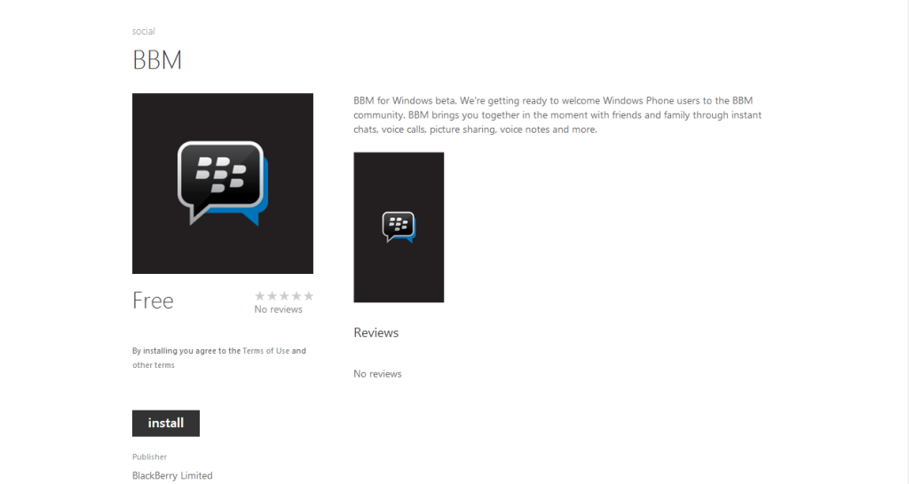 bbm for windows phone