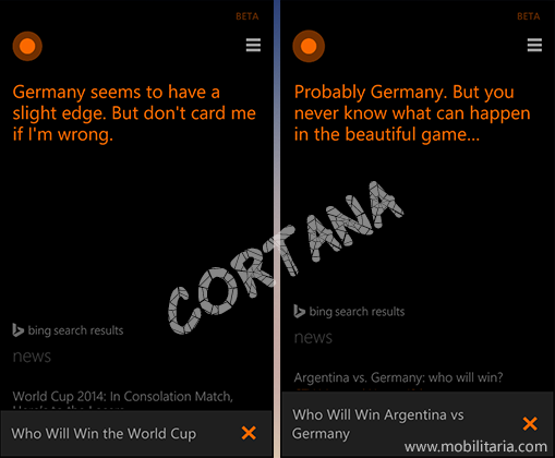 cortana predicts world cup final