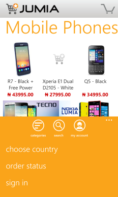 Jumia for Windows Phones