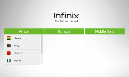 website of Infinix mobile company