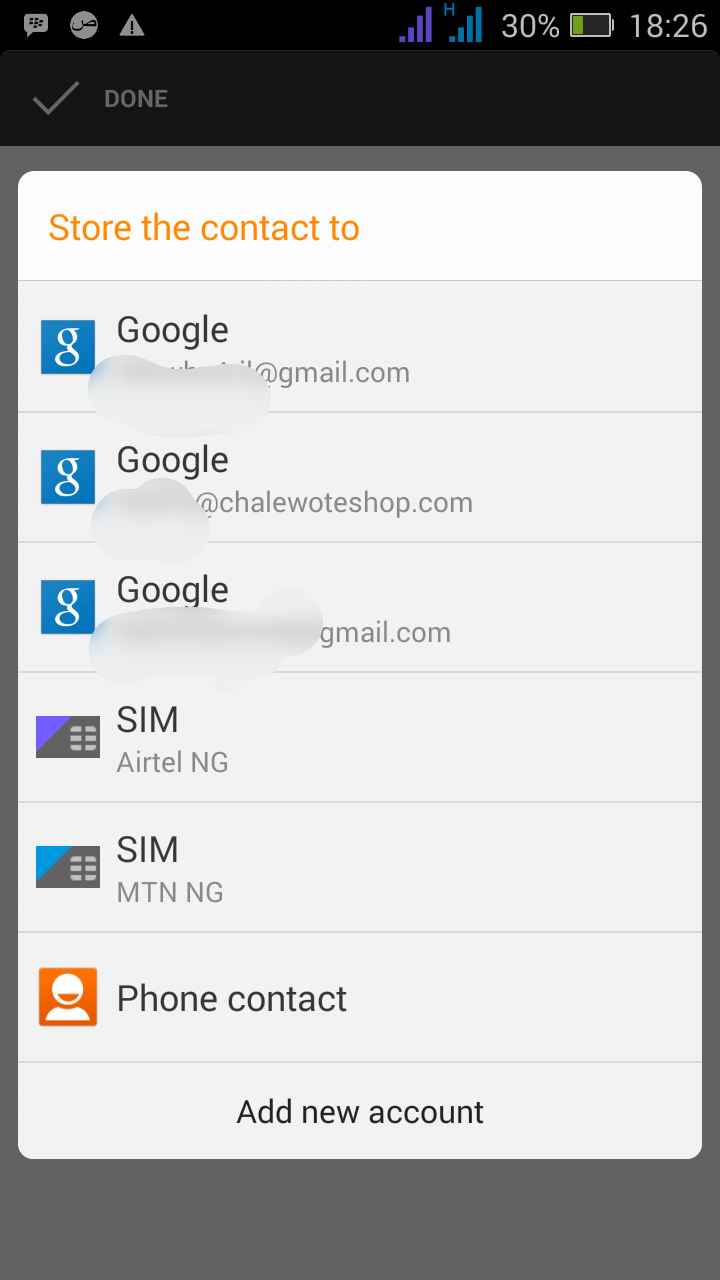 how to delete google account contacts