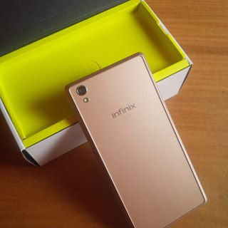 Photo of back view of infinix hot 2 android phone