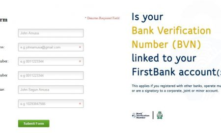 first bank bvn form