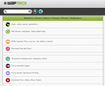 mobile wap sites like waptrick