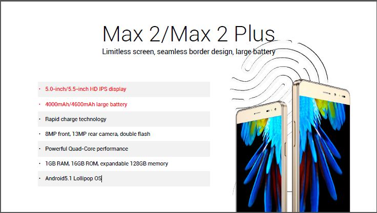 innjoo max 2 specs and features
