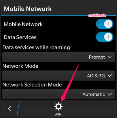 set apn settings for glo on bb 10