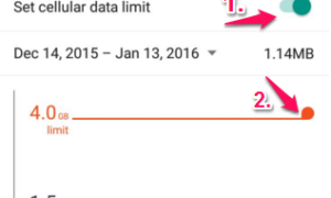 set data limit in infinix hot 2 android phone