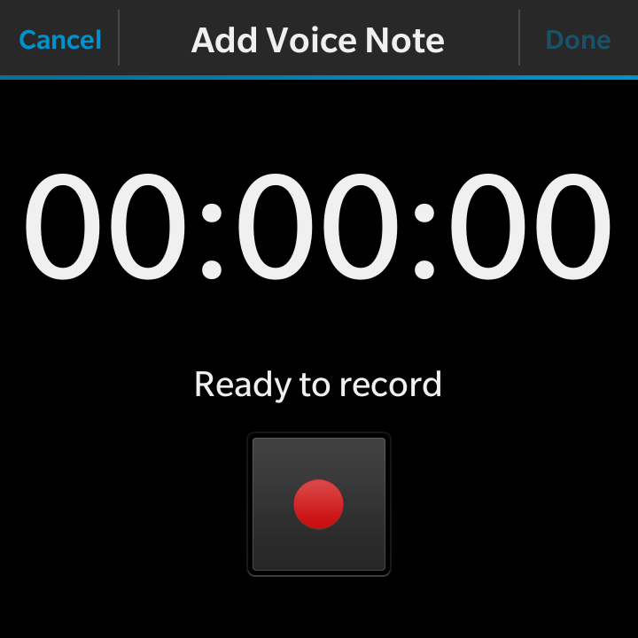blackberry remember app voice recorder