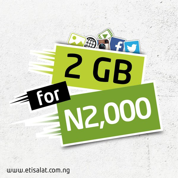 etisalat Nigeria 2gb data plan