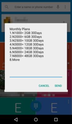 2016 glo data plans price