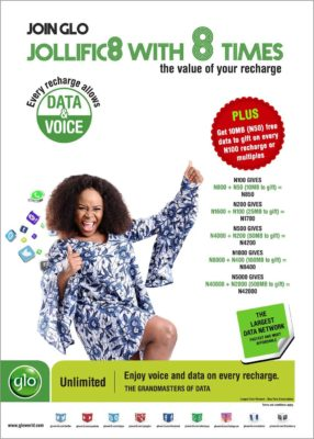 Glo Jollific8 Tariff Plan Gives New Glo Subscribers 8 Times