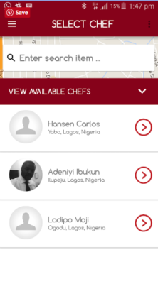 search chef in nigeria