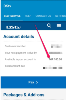 check dstv account balance