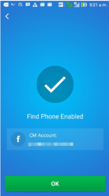find phone enabled cm security app