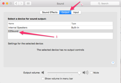 set audio output for airplay mirroring