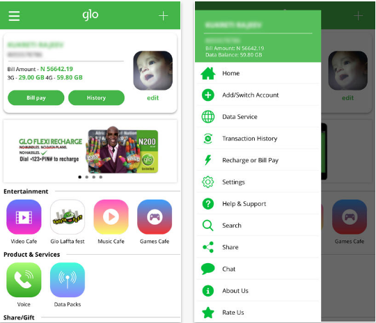 glo mobile app for iphone and ipad