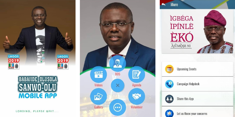 sanwo olu mobile app for elections campaings