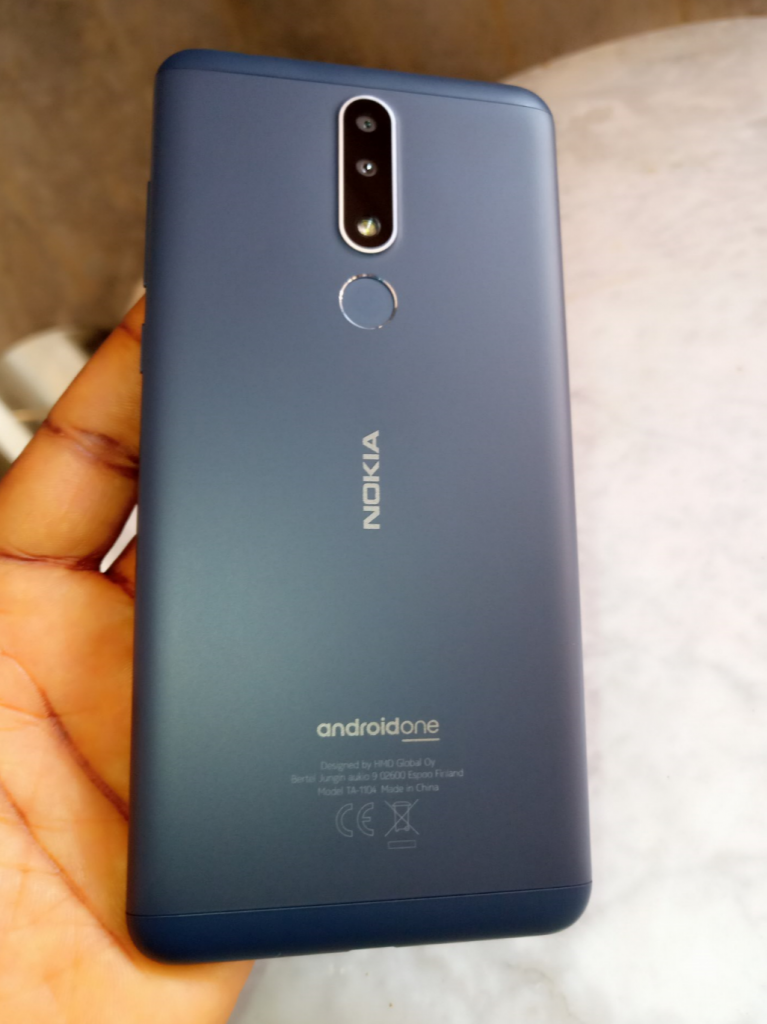 nokia 3.1 plus back camera fingerprint sensor