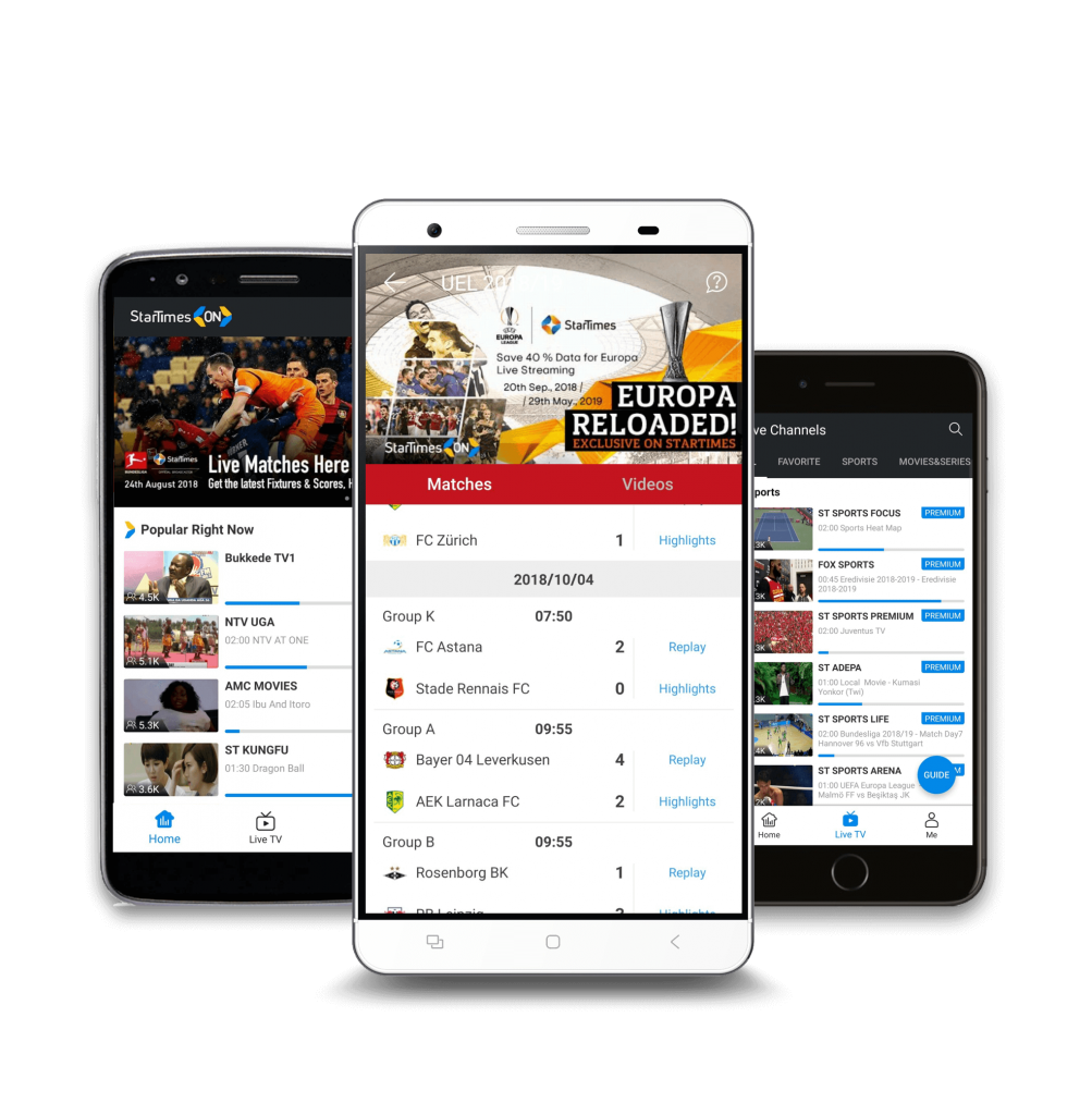 startimes mobile app for video live streaming
