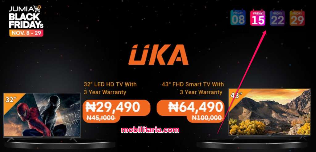 jumia black friday dates in nigeria